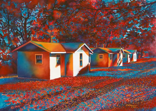 Mysterious Red Roach Motel - Artwork by Shirley Kleppe