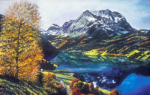 Italian Mountain Lake - The Artwork of Shirley Kleppe